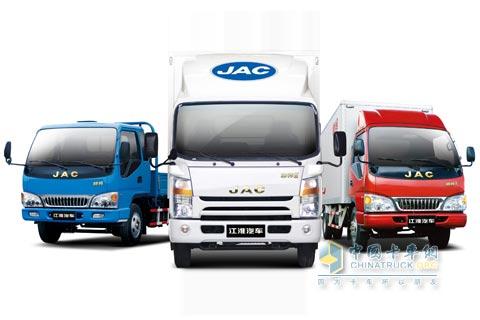 江淮汽车   一直以卓越的品质彰显自己的品牌价值.江淮轻卡高清图片